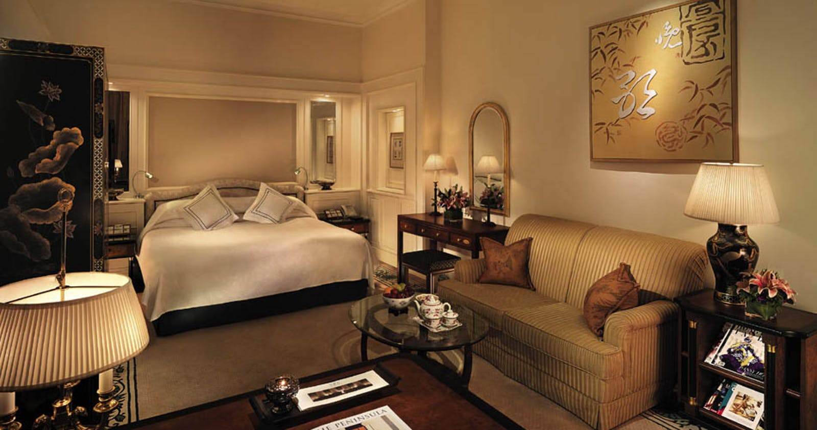 bedroom at The Peninsula Hong Kong