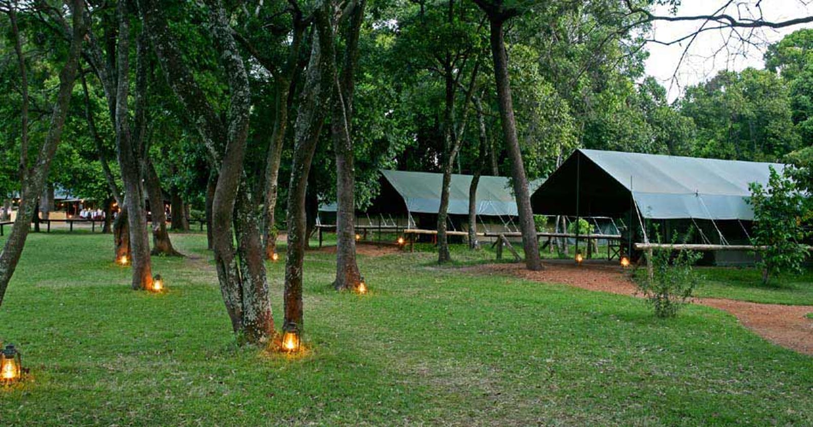 Luxury camp at Governors' Il Moran Camp, Kenya