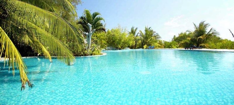 Outside pool at The Funzi Keys, Kenya
