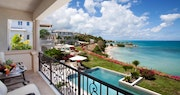 Private balcony in the Cove Suites overlooking the beautiful Antigua