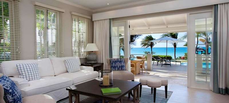 Relax and unwind in the spacious Cove Suites at Blue Waters, Antigua