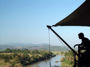 Looking out from Four Seasons Tented Camp Golden Triangle