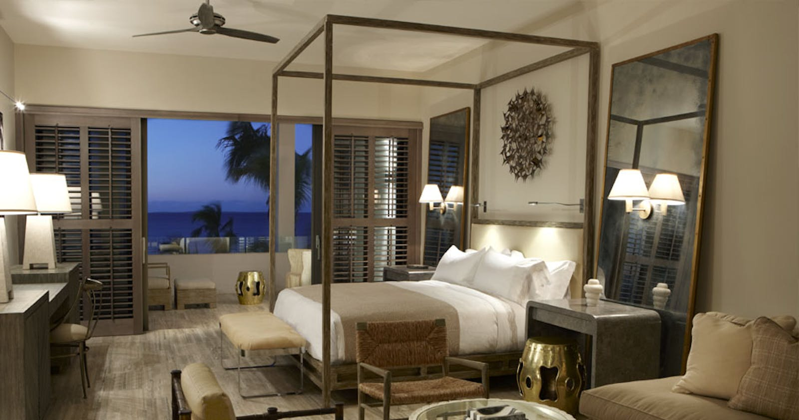 Villa bedroom at Four Seasons Anguilla Resort
