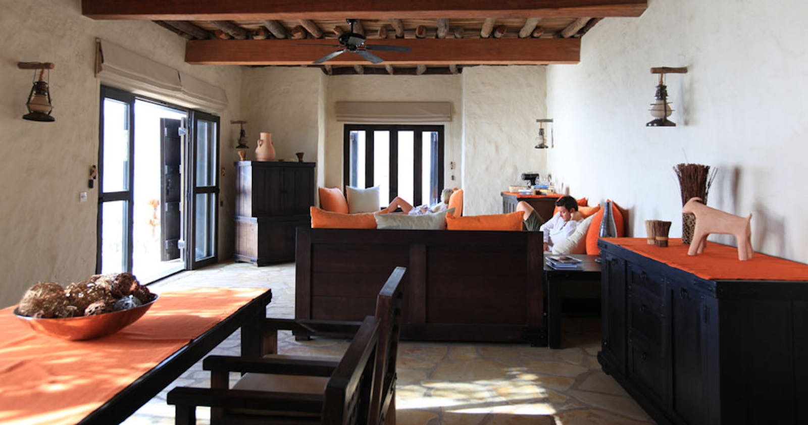Living Room Area at Private Retreats and Reserve at Six Senses Zighy Bay