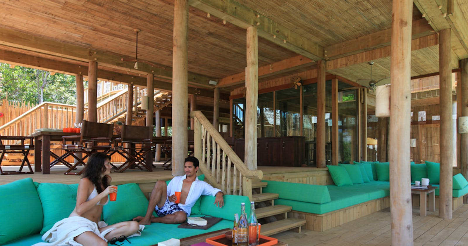 Lounge bar at Private Reserves at Soneva Kiri
