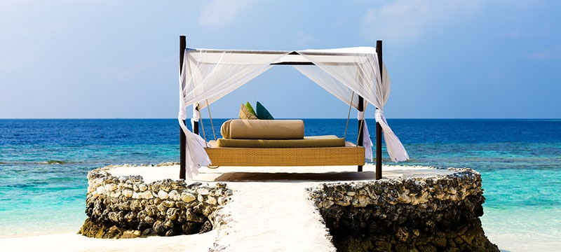 Day Bed at PER AQUUM Huvafen Fushi, Maldives