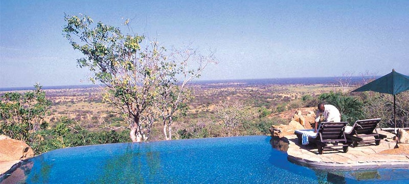Outside pool at Elsa's Kopje, Kenya