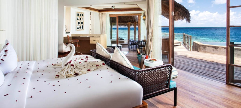 Ocean views at Jumeirah Vittaveli, Maldives