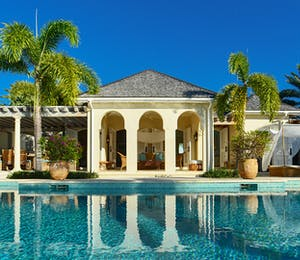 Pool Area and Exterior at Kairos Villa, Jumby Bay, Antigua