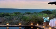 Lodge view and deck at Kwandwe Private Game Reserve, Eastern Cape