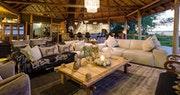 Lodge lounge area at Kwetsani Camp, Bostwana