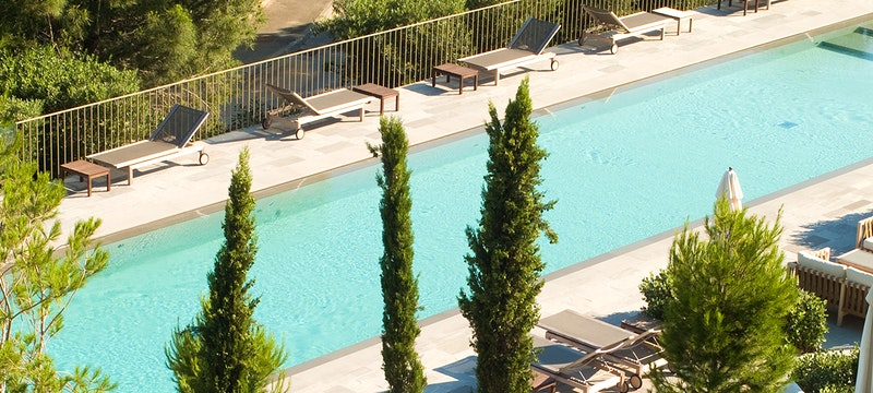 Pool Area at La Reserve Ramatuelle, Riviera