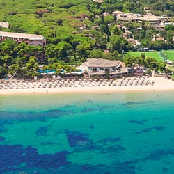 Aerial View of Forte Village Le Dune, Sardinia