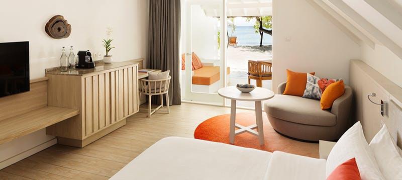 Beach Pavillion Bedroom at Lux* South Ari Atoll