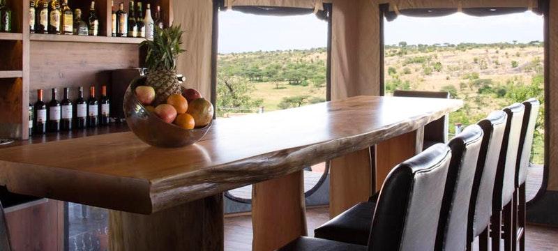 Dining area at Mahali Mzuri, Kenya