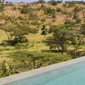 Outside pool at Mahali Mzuri, Keyna