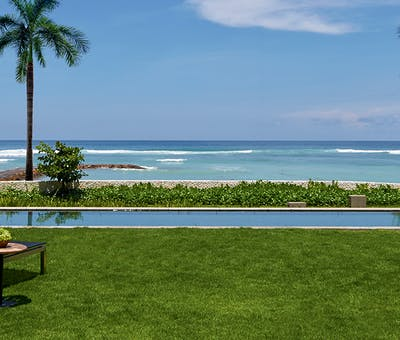 Pool area at The Ritz Carlton Bali