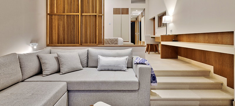 Living Room at Miraggio Thermal Spa, Halkidiki