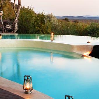Main Lodge Pool Area at Molori Safari Lodge