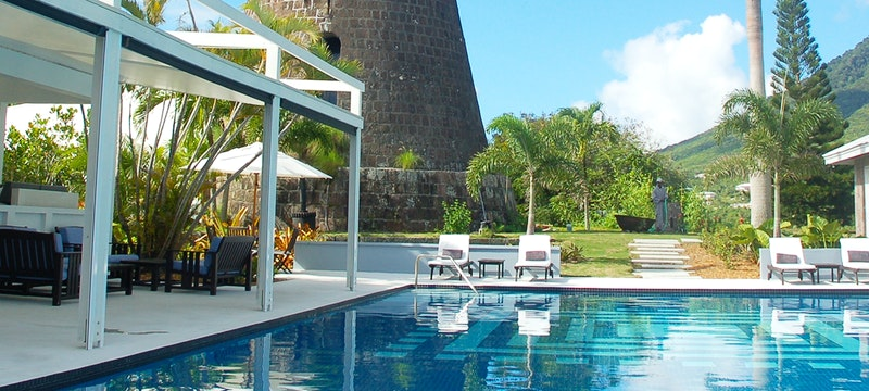 Pool area at Montpelier Plantation & Beach