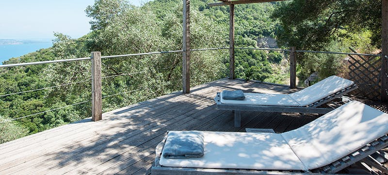 Terrace at Villa Morus, Corfu