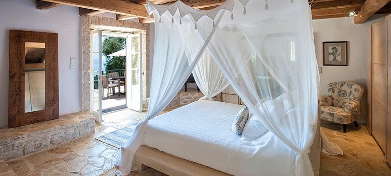 Bedroom at Villa Morus, Corfu