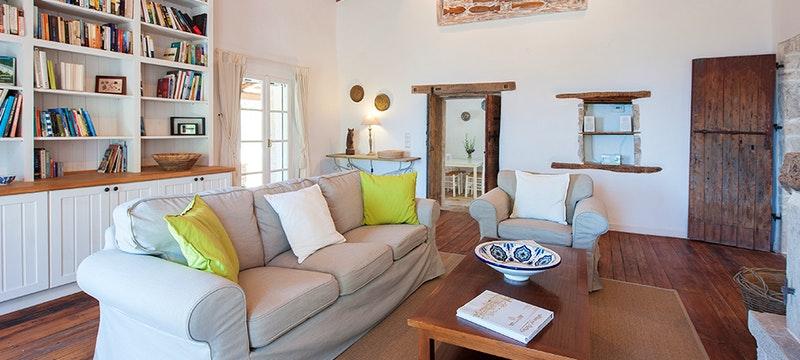 Living area at Villa Morus, Corfu