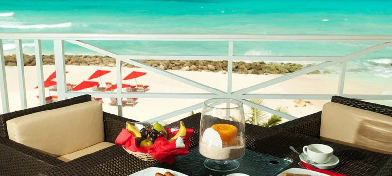 Balcony view at Ocean Two, Barbados