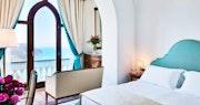 Bedroom at Palazzo Avino
