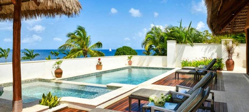 Villa pool at Paradise Beach, Nevis