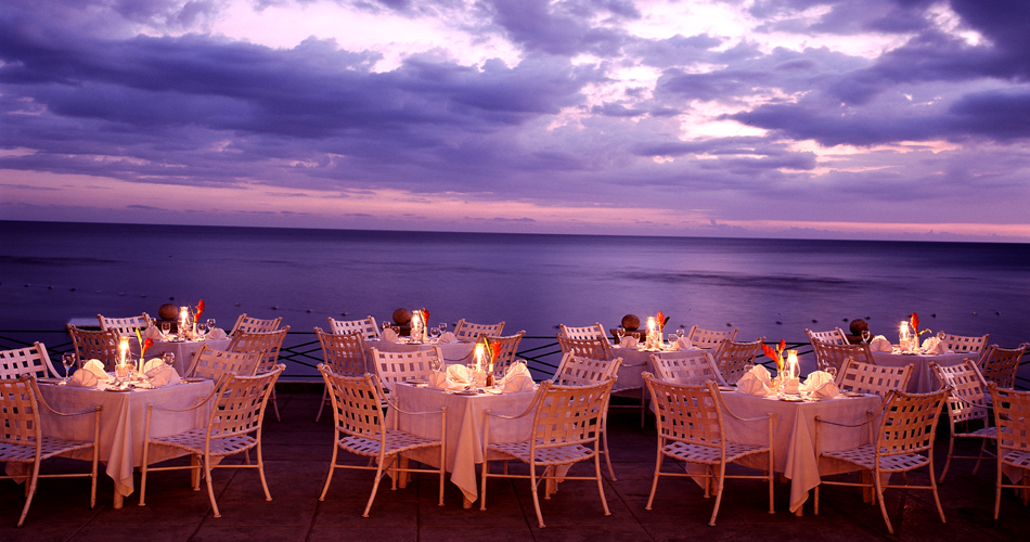 Picturesque dining at Round Hill, Jamaica