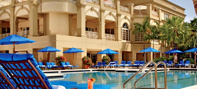Pool area at The Ritz Carlton Naples