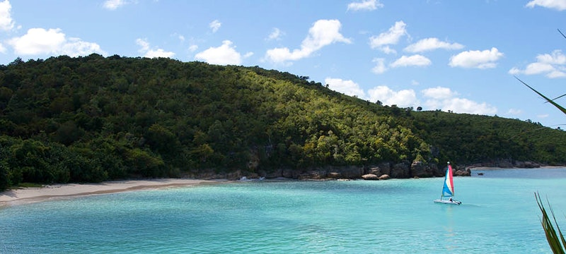 Beautiful sceanary surrounds Rock Cottage at Blue Waters, Antigua