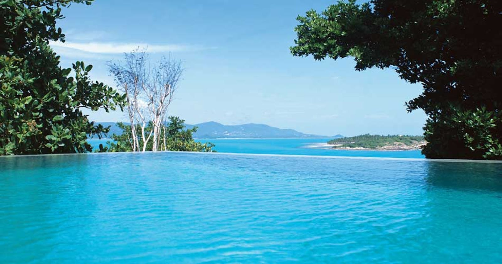 Beautiful pool at Six Senses Samui