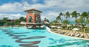 Enjoy the famous swim-up bar at Sandals Grande Antigua