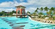 Enjoy the famous swim-up bar at Sandals Grande Antigua