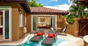 Enjoy a private pool sanctuary in the Butler Villa Suite at Sandals Grande Antigua