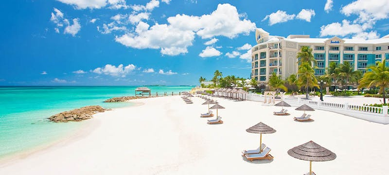 The beautiful beaches at Sandals Royal Bahamian, Bahamas
