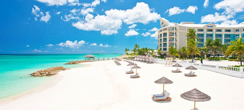 The beautiful beaches at Sandals Royal Bahamian, Bahamas