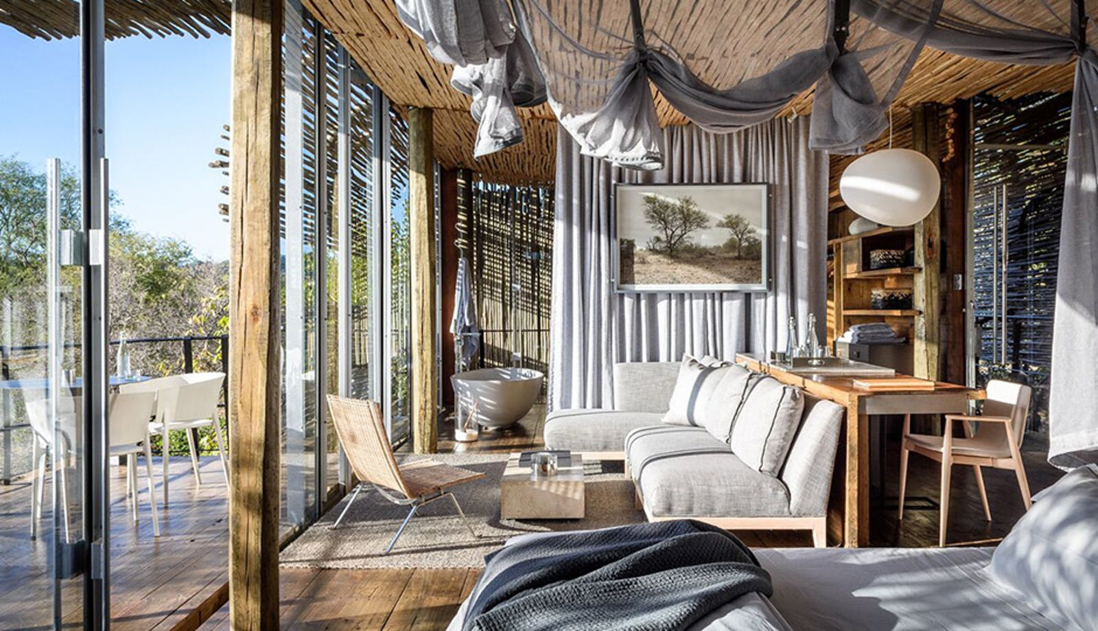 Lodge Bedroom at Singita Pamushana