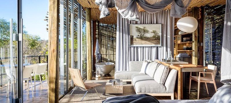 Lodge Bedroom at Singita Pamushana