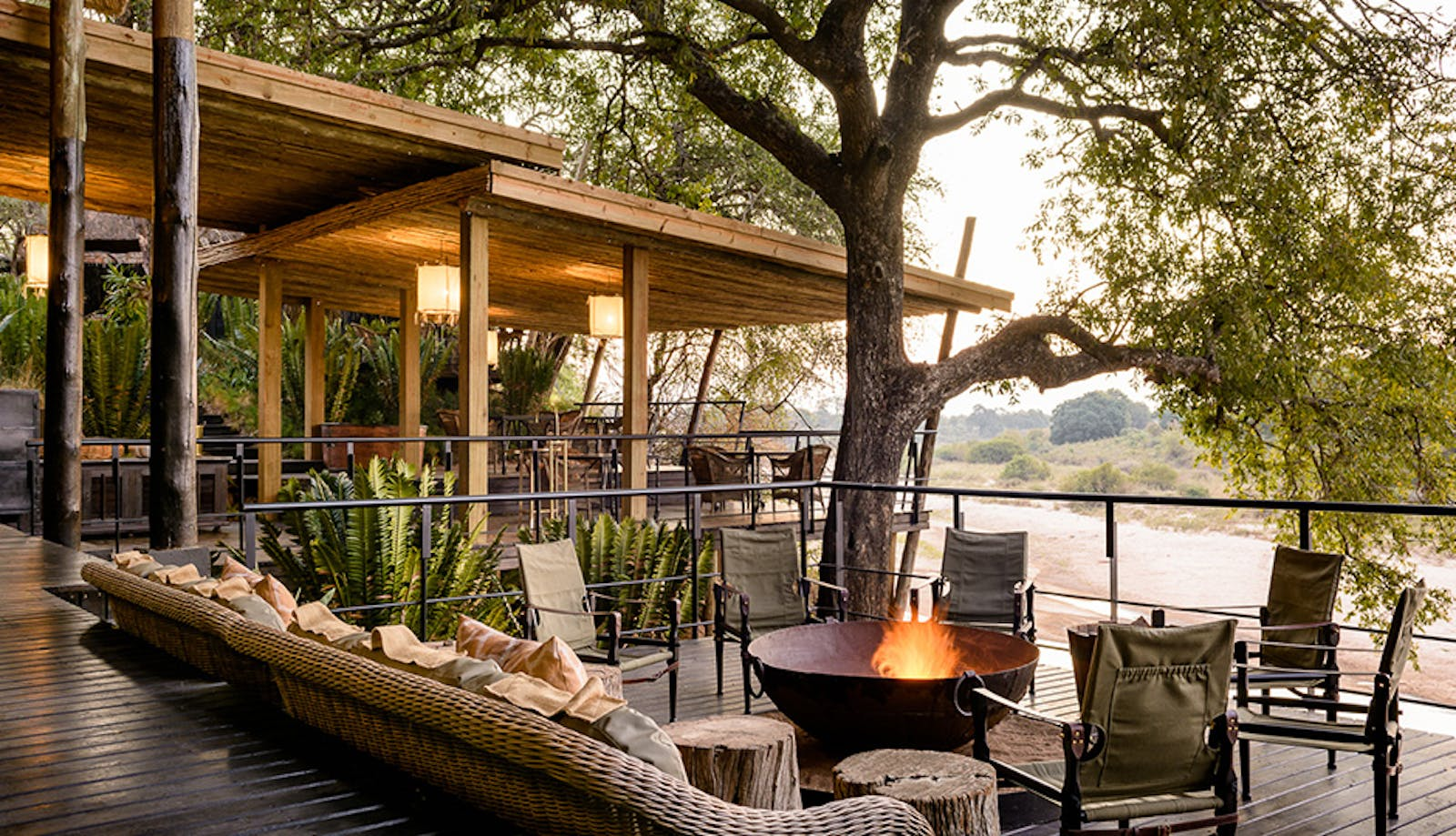 Outdoor Lounge at Singita