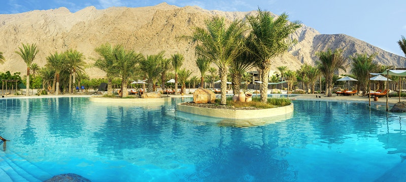 Salt Water Pool at Six Senses Zighy Bay, Oman