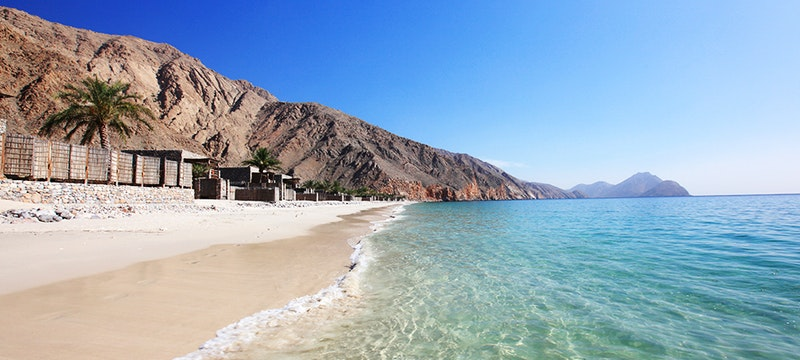 Beach at Six Senses Zighy Bay, Oman