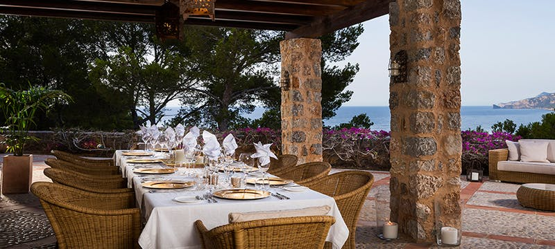 Dining at Son Bunyola, Mallorca