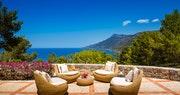 Outside Seating Area at Sa Punta Villa at Son Bunyola, Mallorca