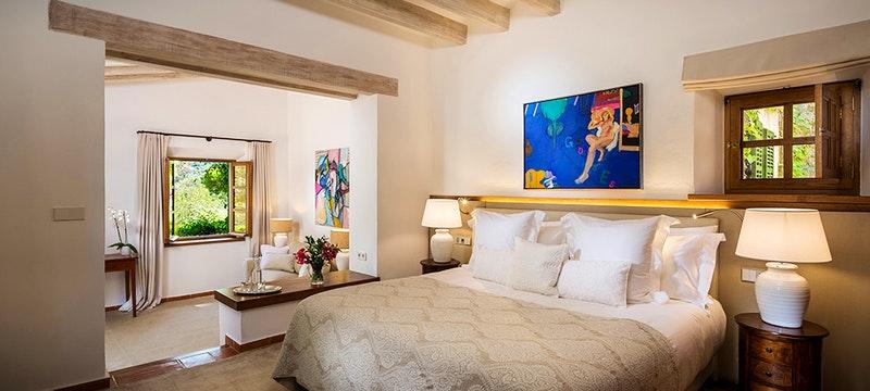 Bedroom at Sa Punta Villa at Son Bunyola, Mallorca