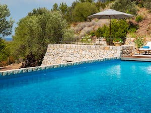 Pool Area at Sa Terra Villa Son Bunyola, Mallorca