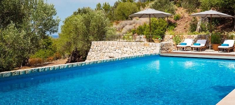 Pool Area at Sa Terra Villa Son Bunyola, Mallorca