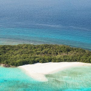 Ariel View of Island at Soneva Jani